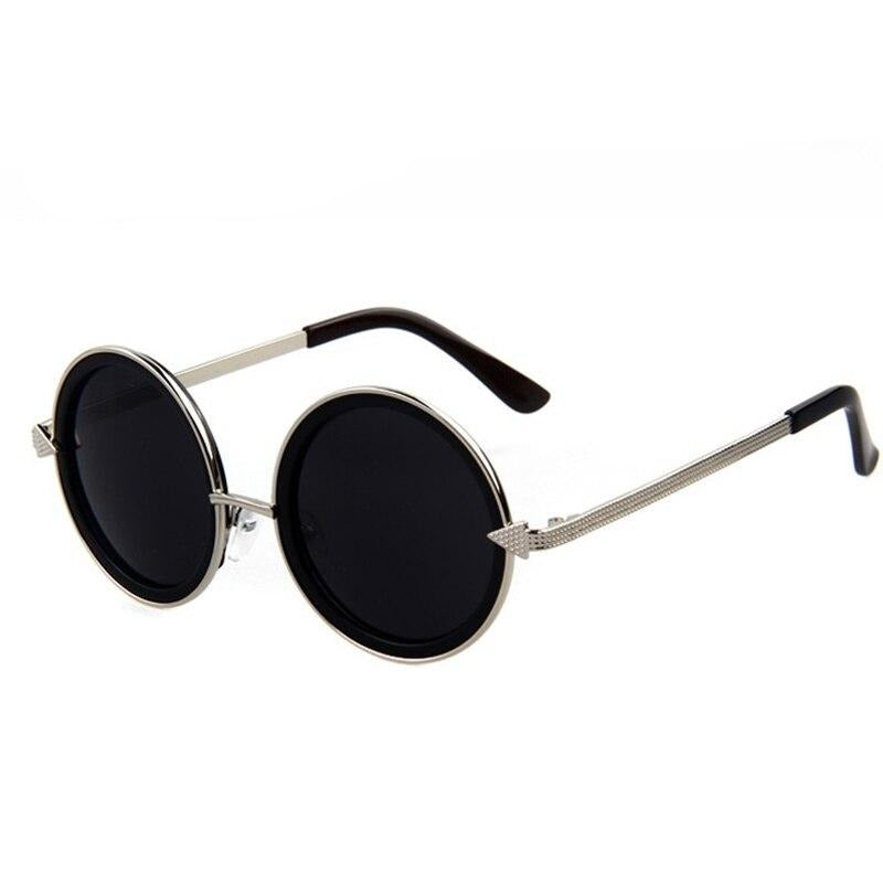 Calanovella Steampunk Round Sunglasses Stylish Classic Oval Round Steampunk Sunglasses with Arrow Cool Oval Round Frame Vintage Eighties Retro 2020 Polarized UV400 for Men Women gray,black,brown,coffee,red gray,gold gray,leopard 39.99 USD