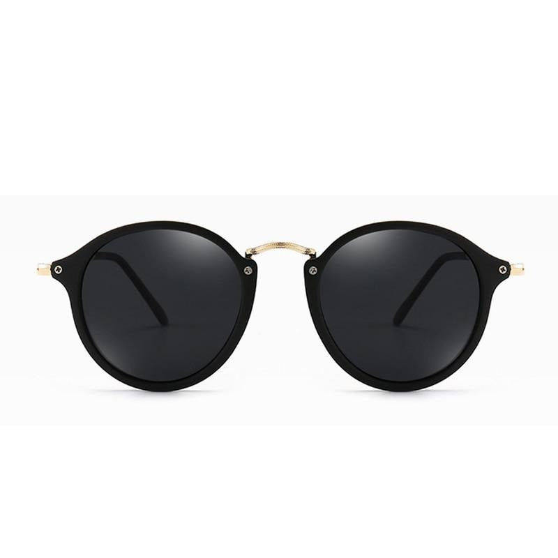 Calanovella Round Sunglasses Round Circular Sunglasses Cool Black Oval Circle Vintage Eighties Retro 2020 Polarized UV400 for Men Women matte black,bright black,brown 39.99 USD