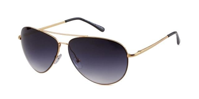 Calanovella Designer Aviator Sunglasses Gold Metal Frame Cool Pilot Glasses UV400