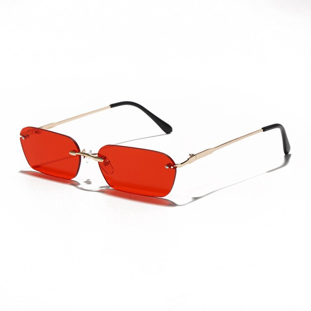 Calanovella Small Rimless Rectangle Sunglasses UV400