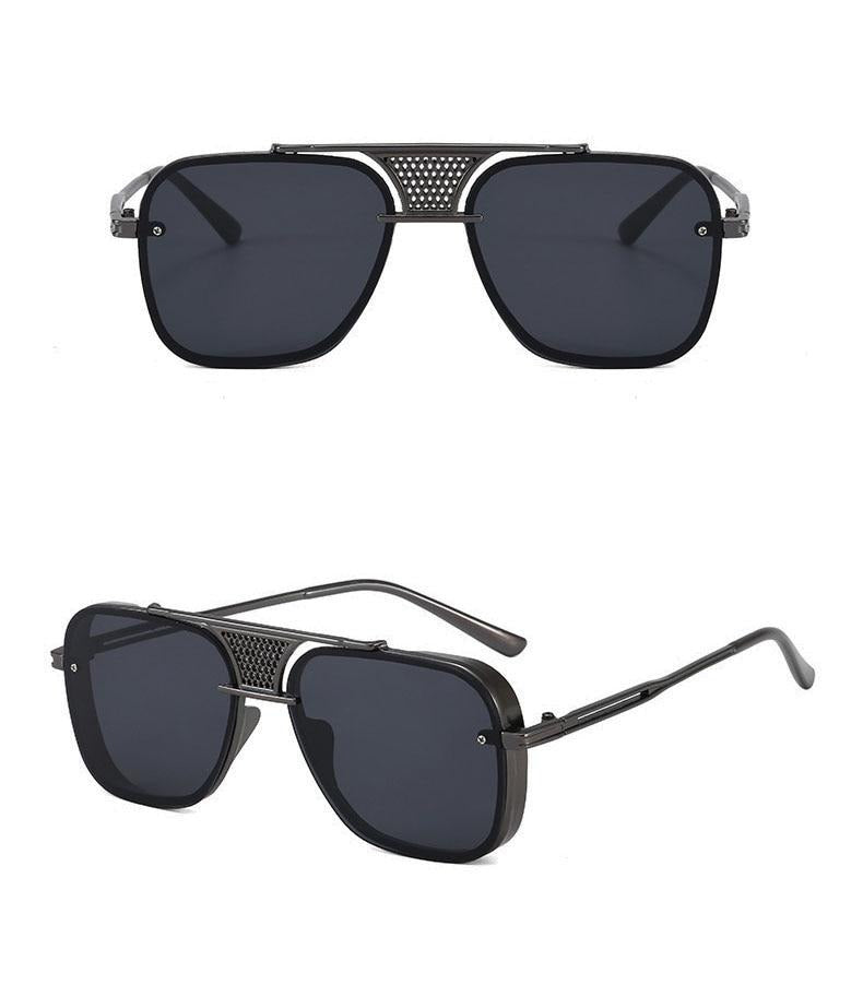 Calanovella Vintage Square Sunglasses Double Bridges Fashion Trending Men Sun Glasses black tea,gun blue,silver blue,black yellow,golden green,black red,golden gray,silver yellow,gun gray,silver gray 34.99 USD