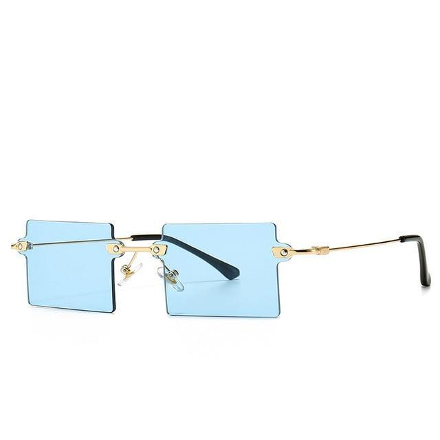 Calanovella Classic Rectangle Sunglasses Women Vintage Square Rimless Sun Glasses - Calanovella.com