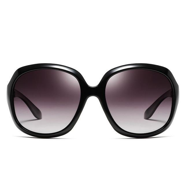 Calanovella Fashion 80s Oval Sunglasses Women Oversized Vintage Big Frame Black Sun Glasses - Calanovella.com
