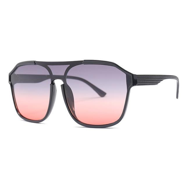 Calanovella 90s Fashion Oversized Sunglasses Men Women Vintage Square Frame Sun Glasses Flat Top Shades - Calanovella.com
