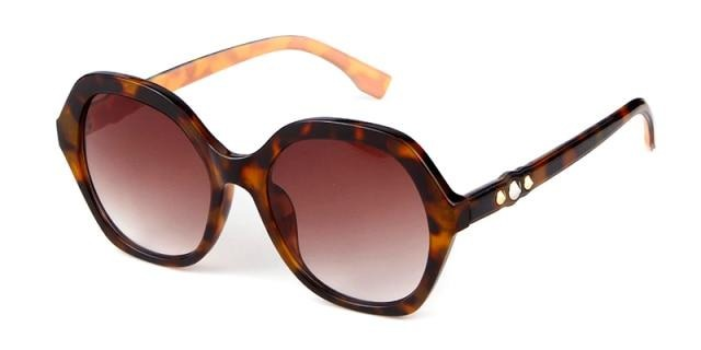 Calanovella Vintage Square Hexagon Sunglasses Women Designer Retro Polygon Leopard Frame Tortoiseshell Sun Glasses