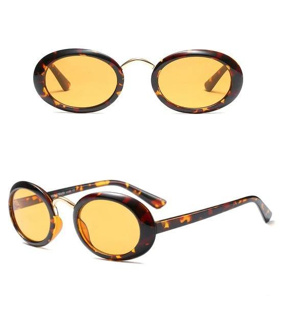 Calanovella Round Oval Sunglasses Men Women Black Red Tortoise Shell Pink 90s Vintage Retro Sun Glasses - Calanovella.com