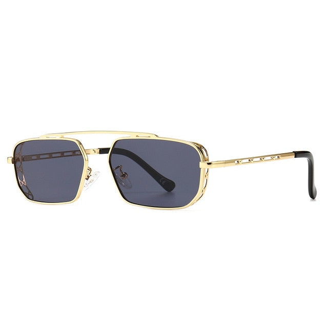 Calanovella Steampunk Sunglasses Men Women Brand Designer Sun Glasses UV400 Driving Shades Gradient Fashion Eyewear Metal Frames
