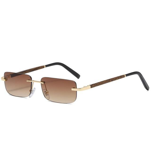 Calanovella Vintage Rectangle Sunglasses Men Women Fashionable Square Rectangular Sun Glasses UV400 - Calanovella.com