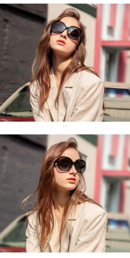 Calanovella Fashion 80s Oval Sunglasses Women Oversized 2020 Vintage Big Frame Black Sun Glasses