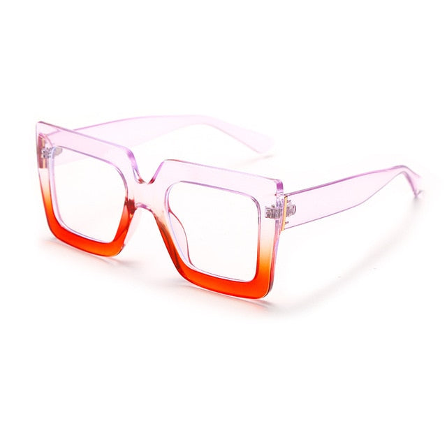 Calanovella Square Computer Glasses Anti Blue Light Blocking Glasses Optical Gaming Filter Eyewear