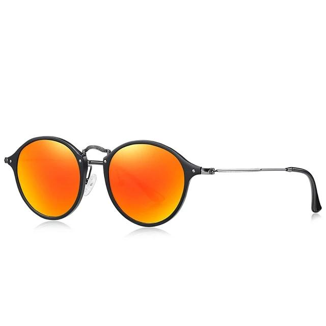 Calanovella Stylish Round Retro Aluminum Magnesium Vintage Sunglasses Polarized UV400
