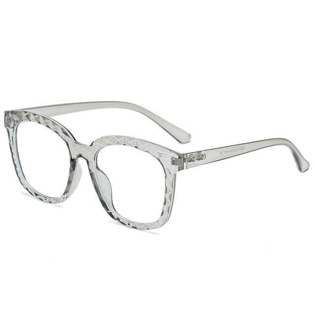 Calanovella Square Blue Light Glasses with Clear Pink Frame Stylish