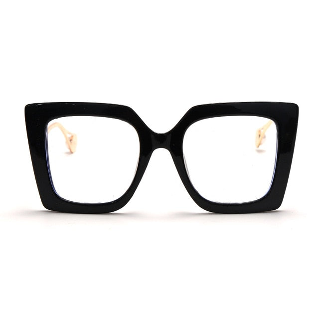Calanovella Oversized Cat Eye Computer Glasses Anti Blue Light Blocking Glasses Optical Gaming Filter Eyewear