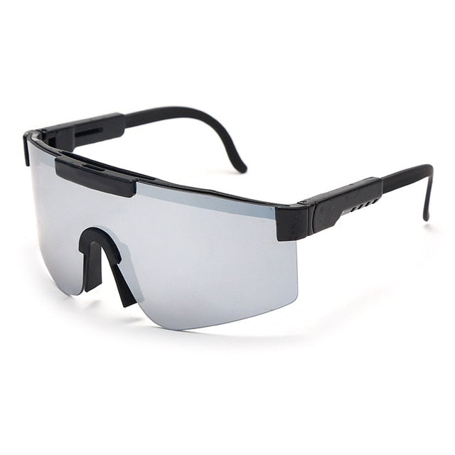 Calanovella Flat Top Goggle Sun Glasses Mirrored Lens Windproof Sport Sunglasses UV400