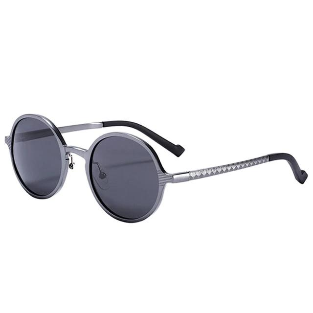 Calanovella Round Retro Vintage Polarized Sunglasses UV400 Alloy Magnesium