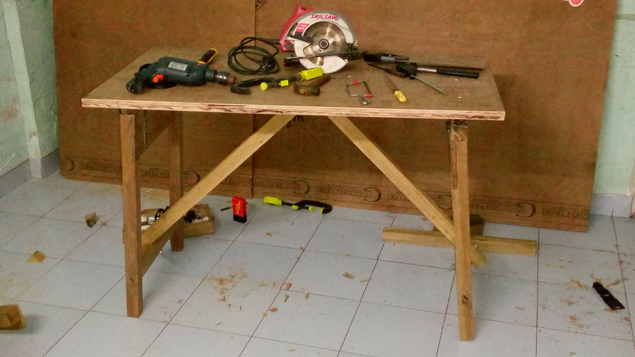 Collapsible workbench - A guide to building in India