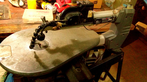 Porter scroll saw with much modifications