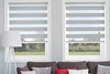 Two fabrics in one roller blind