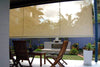 Patio blinds using drop awnings
