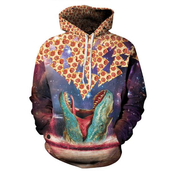 DINOSAUR'S PIZZA PULLOVER HOODIE