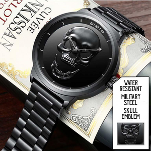 Military Steel Skull Watch