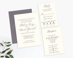 Rebecca Classic Elegant Invitation Package