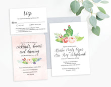 Kristin Watercolor Cactus Wedding Invitation Package