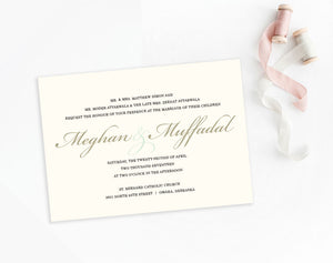 Meghan Ivory classic elegant wedding invitation by Dana Osborne