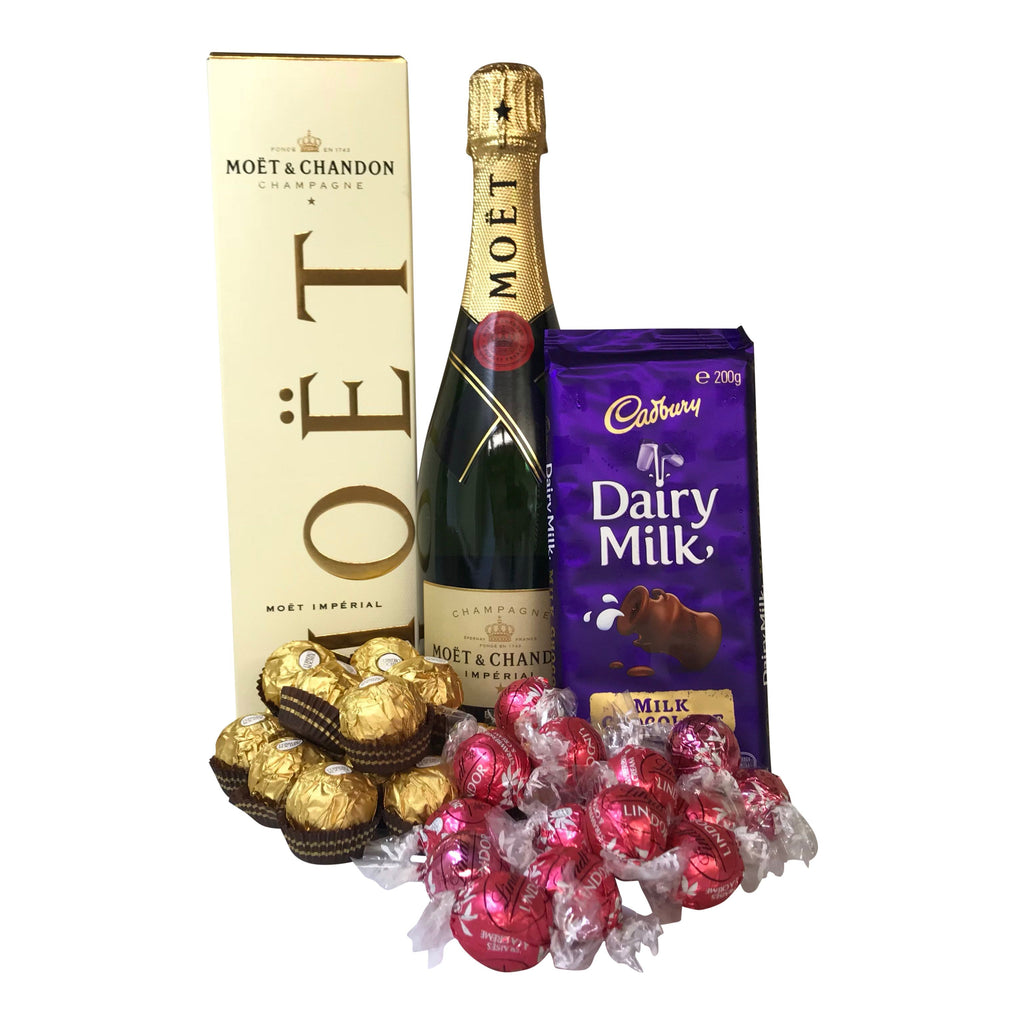 Amazing hampers australia buy online free australia wide delivery mot champagne and chocolate gift hamper negle Image collections