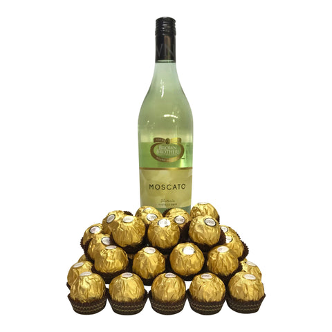 The Fresh Ferrero of Australia Wine Chocolate Gift Hamper