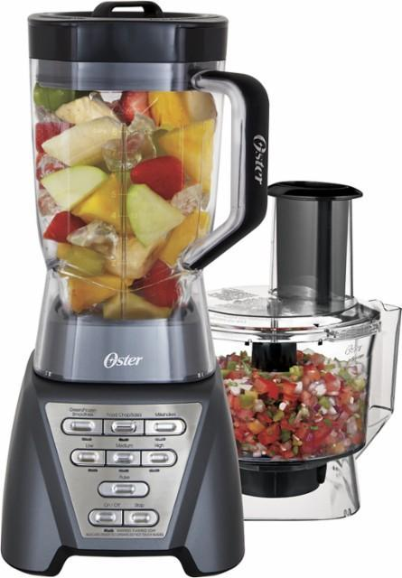 Oster - Pro 7-Speed Food Processor - Metallic gray