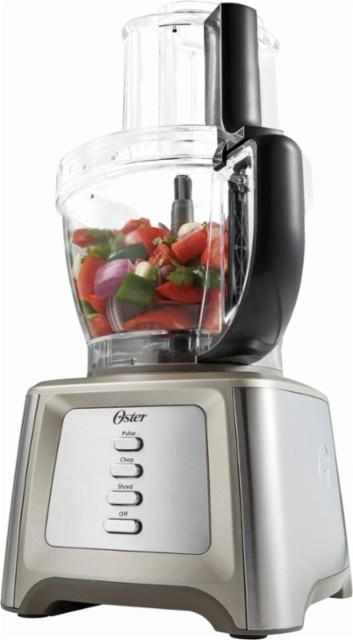Oster - Designed for Life 14-Cup Food Processor with Chopper - Black/Silver/Transparent