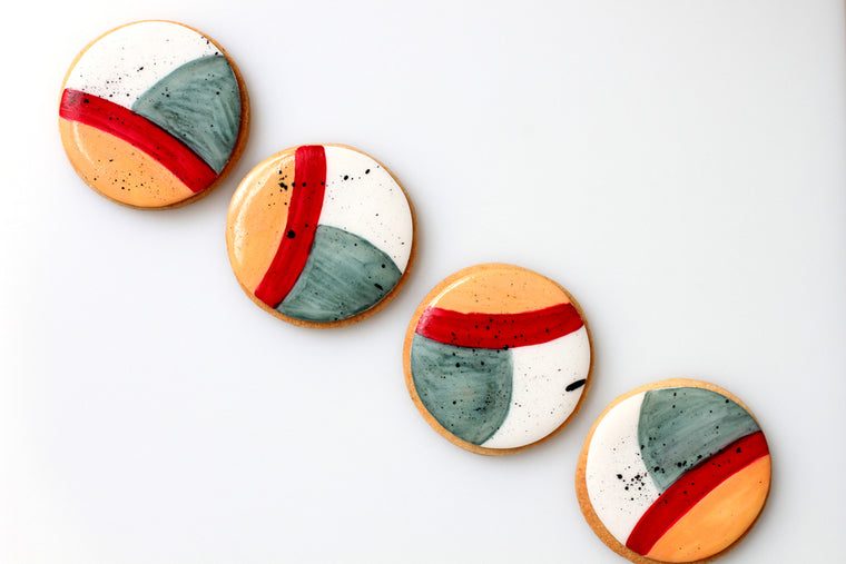 Abstract Cookies (Set of 8)