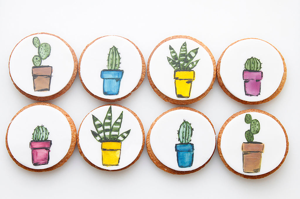 Cactus Plant Cookies Gift Set of 8
