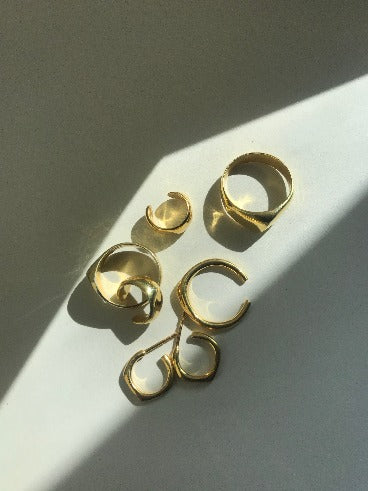 Small Hoops Vermeil - Eva Brzo Jewelry
