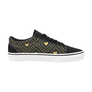 Chaussures Original Low Top Goldy Heart Black - Femme>Chaussures>Low-Tops - Urban Corner