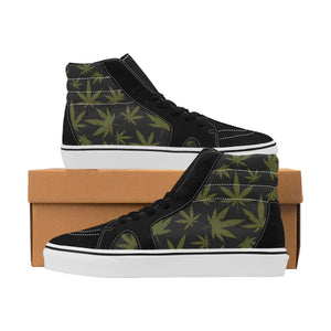 Chaussures de skate Hi Top Weed Black