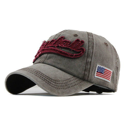 "Casquette Strapback Denim ""Baseball USA"""