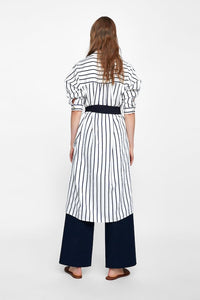 Buttoned Dress with Belt