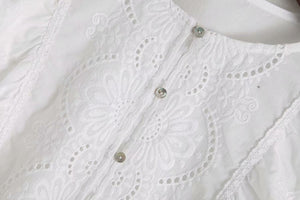 Embroidered Blouse With Ruffles