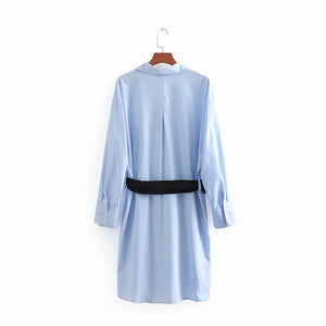 ZA Inspired Shirt Dress with belt