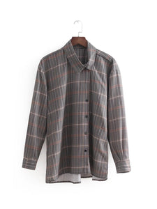 ZA Inspired Asymmetric Checked Shirt