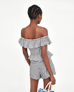 ZA Inspired Gingham Top