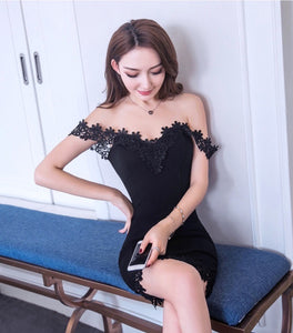 Jolie Floral Lace Off Shoulder Dress