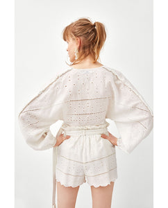 ZA Top with Cut Work Embroidery