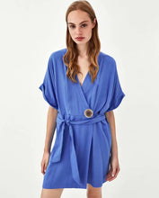 Front Wrap Buttoned Dress