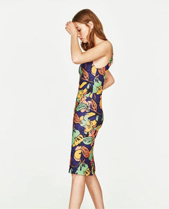 Strappy Dress with Floral Print