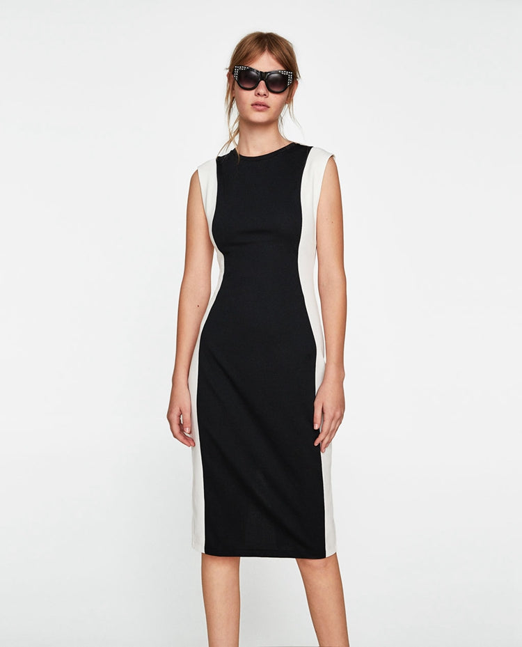 ZA Inspired Color Black Dress