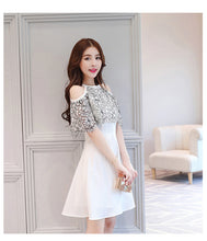 Jane Cold Shoulder Contrast Lace Dress