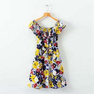 ZA Inspired Floral print Off-shoulder Dress